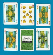 Collectable adverting playing cards Gordon's gin
